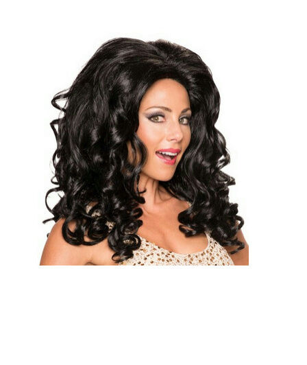 Brown Movie Star RuPaul Drag Queen Curly Big Hair Wig for sale online  639046ea73
