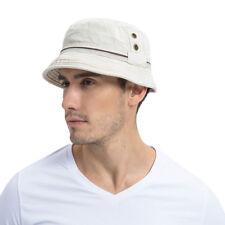 f368fe5ae27 Cotton Bucket Hat Boonie Hunting Fishing Outdoor Cap Men s Summer Sun Hats