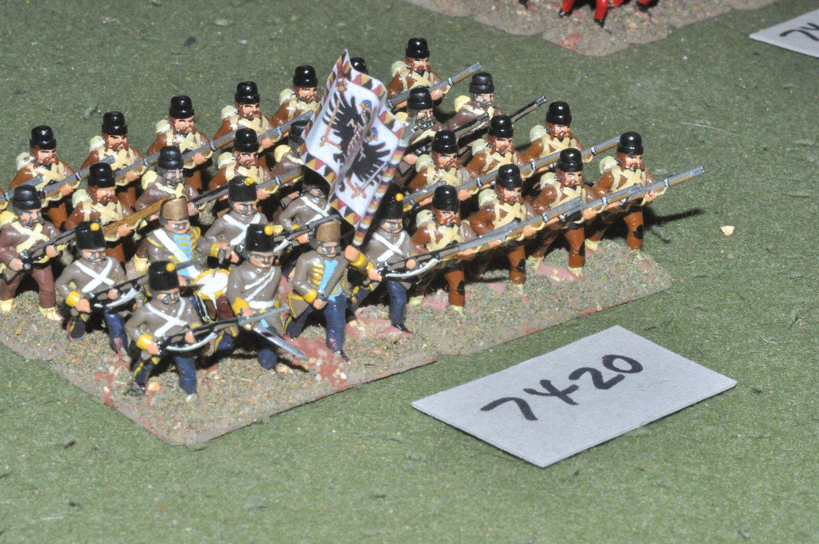 salida para la venta 25mm 25mm 25mm 7YW Austria-siete años de guerra grenzers 32 Figuras De Metal-INF (7420)  soporte minorista mayorista