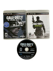 Playstation 3 Lot Of 3 Call Of Duty Games Black Ops 2 Modern Warfare 3 Ghosts