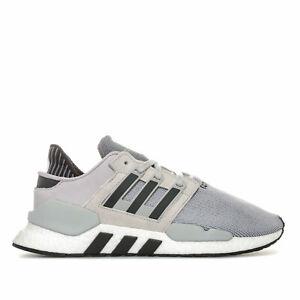 Hommes-Adidas-originals-eqt-support-91-18-Baskets-en-Gris-Deux-Core-Noir-Gris