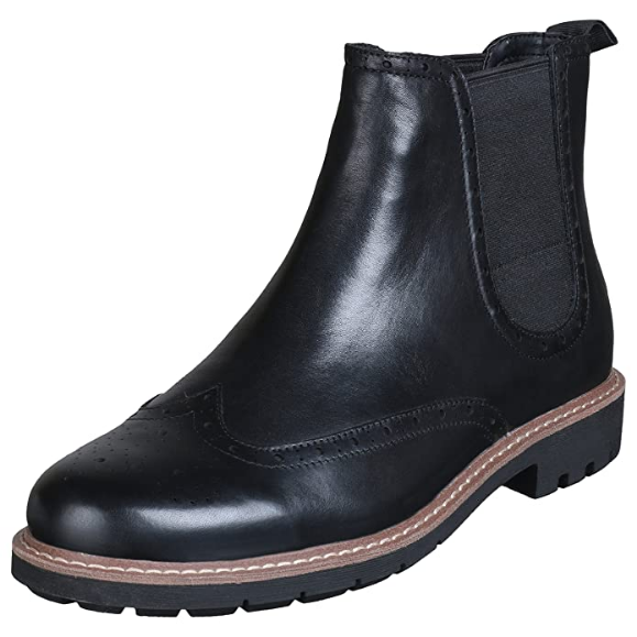 Clarks BNIB Mens Chelsea Boots BATCOMBE TOP Black Leather UK 12 / 47