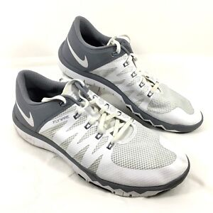 14d1e93f2f2d GUC Men s Nike Flywire Free 5.0 TR Running Shoes White Gray Sz 11.5 ...