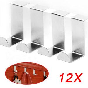 2-12 x Edelstahl Türhaken Universal Tür Haken Gaderobenhaken Kleiderhaken