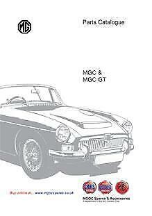 Classic MG MGC /& MGC GT Parts Catalogue Supplement