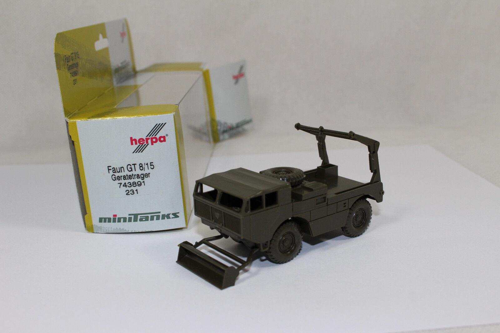 neu 1:87 Roco Minitanks 231 Faun Geräteträger