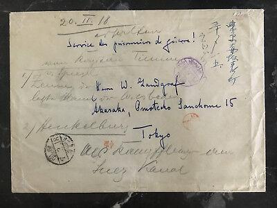 Japan Obligatorisch 1918 Fukuoka Japan German Abdeckung Ww 1 Pow Prisoner Of War To Tokyo Camp Mit äSthetisches Aussehen