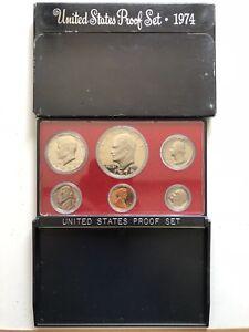 USA-1974-Proof-Set-San-Francisco-Original-Box-PP-polierte-Platte-1c-1