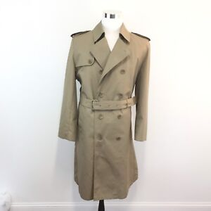 top-rated fashion new items classic styles Details about Vtg 70s 80s Oleg Cassini Weather Ready Trench Coat Zip Out  Lining Mens Size 42 L