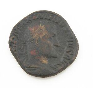 235-236 Anuncio Imperial Romano Sestertius Moneda Avf Maximinus About Muy Fina