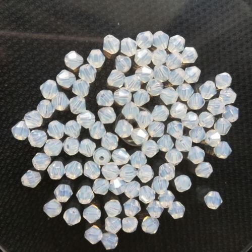Protéine 500pcs Exquis verre cristal 4 mm Bobine biconique Beads Loose Beads @