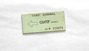 Carnet-7-Anciens-Tickets-de-Bus-Nancy-CGFTE-Tarif-Normal