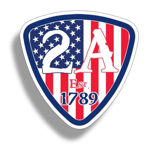 2A 2nd Amendment USA Flag Sticker Gun Laptop Cup Car Truck Window Bumper Decal