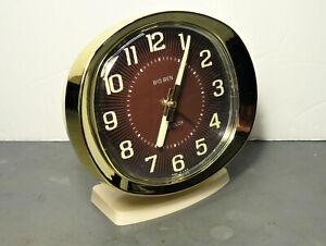 Mid Century Modern Westclox Big Ben Luminous Wind Up Alarm Clock - Excellent!