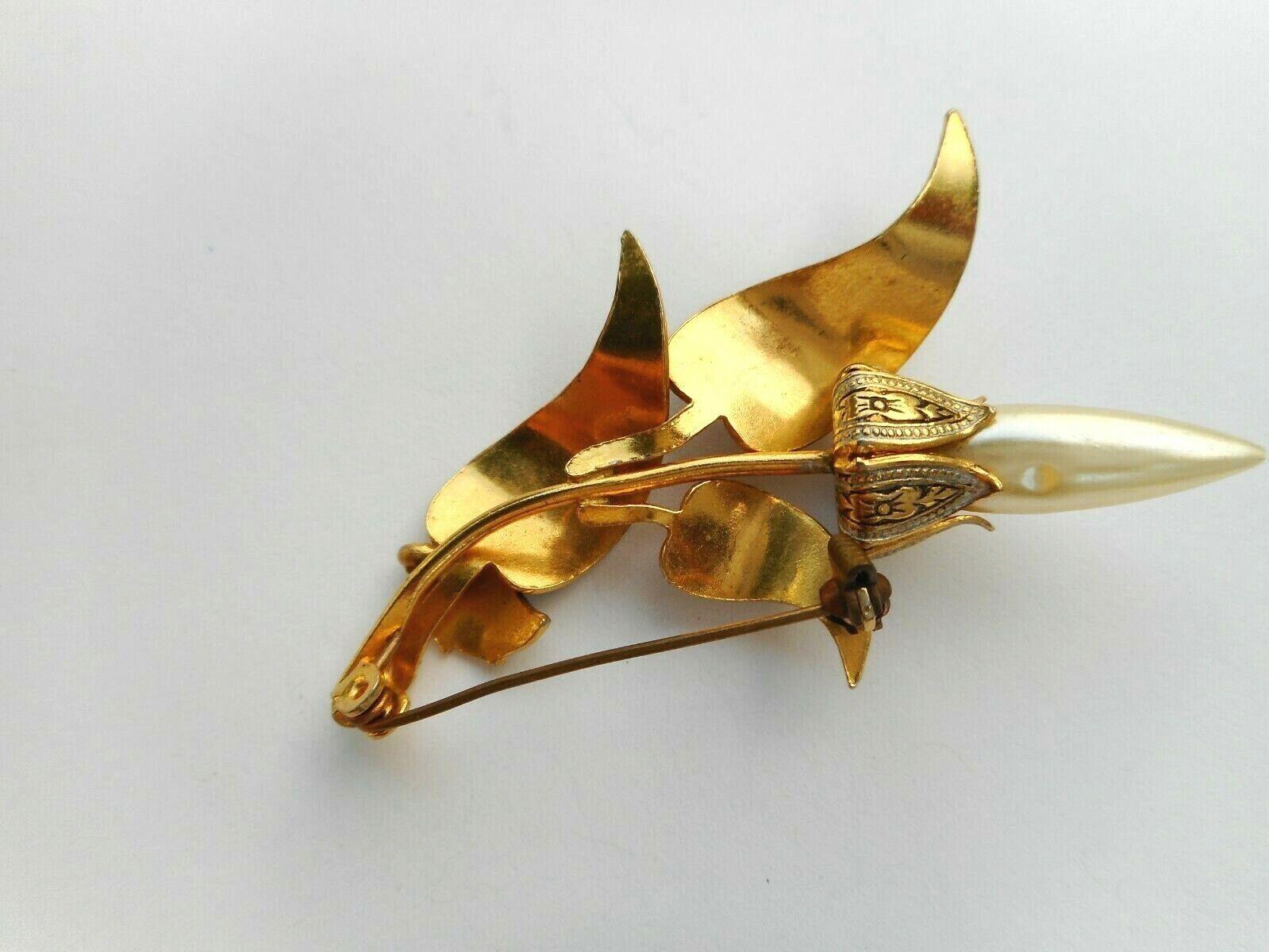 Stunning Vintage Spain Damascene Gold Tone Ornat… - image 7