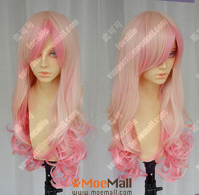 Harajuku Baby Pink Gradient 90cm Curly Sweet Lolita Cosplay Party Wig