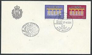 1984 San Marino Fdc Europa No Timbro Arrivo - Ks14-5