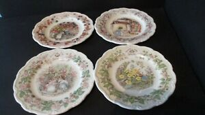 Brambly-Hedge-SET-OF-4-SEASONS-8-1-4-in-Plates-1st-QUALITY-1982
