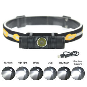 Profi-XM-L-L2-LED-Polizei-Stirnlampe-Kopflampe-Zoom-Angeln-Taschenlampe-6000-LM