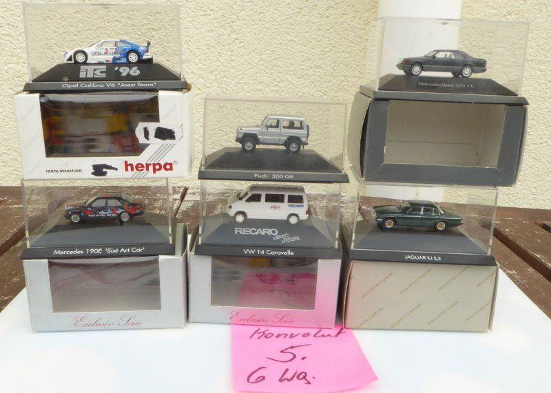 Herpa Conjunto 1 87 H0, H0, H0, 6 piezas Camión + DTM COCHE DE CARRERAS EN CAJA, b7a643