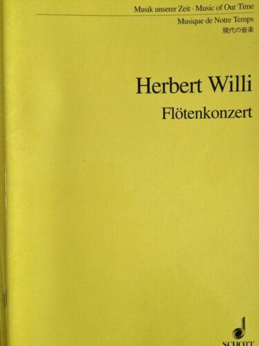 Flötenkonzert Musik unserer Zeit Herbert Willi