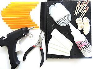 Extension-de-cheveux-Pistolet-a-colle-kit-batons-pinces-enlevement-FLUIDE-POUR