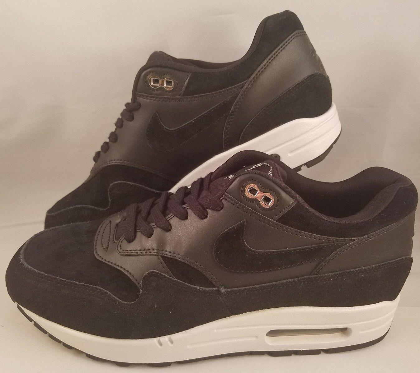Nike air max 1 premium - rebell schwarze schädel laufschuhe männer schwarze rebell 875844-001 größe 9. d61c1a