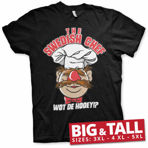Details about Licensed The Muppets The Swedish Chef Big & Tall 3XL, 4XL, 5XL Men's T Shirt