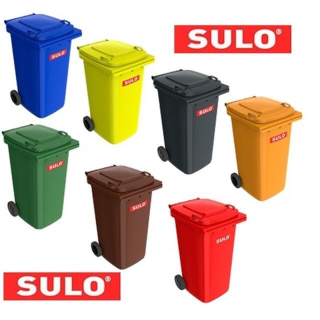 Mülltonne Sulo 240L Abfalltonne in grau, gelb, blau, rot, grün, braun, orange