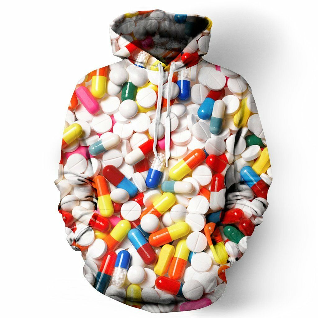 NEW Beloved Shirts PILLS HOODIE SMALL-3XLARGE CUSTOM HAND MADE IN THE USA