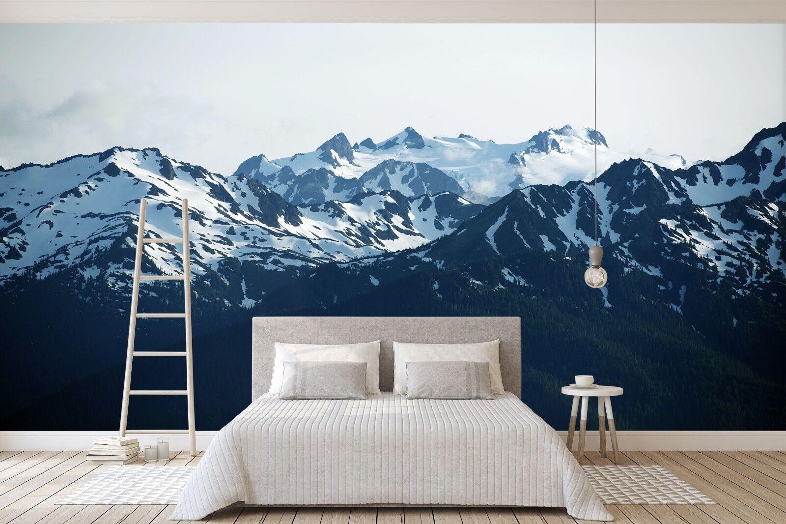 3D Snow Mountain 766 Wallpaper Mural Paper Wall Print Murals UK Sidney