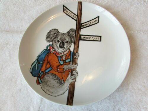 West Elm Rachel Kozlowski Dapper Animal Plate Koala Travel Back Pack London