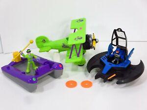 Imaginext-Riddler-Bi-Plane-Airplane-Boat-Raft-DC-Superfriends-Batman-Batwing-Lot