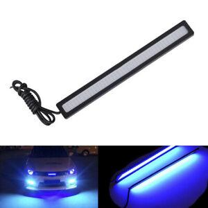 Blue-Super-Bright-Car-COB-LED-Light-DRL-Fog-Driving-Lamp-Waterproof-DC-12V-17CM