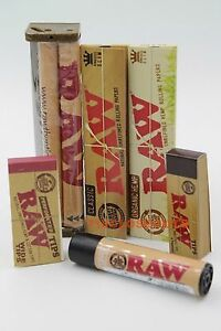 AUTHENTIC-RAW-ROLLING-PAPER-KING-SIZE-COLLECTION-MACHINE-PAPERS-TIPS-Lighter