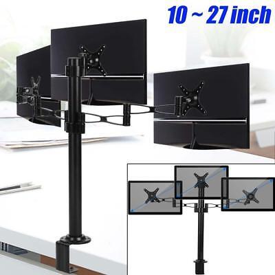 Sensational Adjustable Triple Monitors Desk Mount Bracket Stand Fits 3 Arms Screens 10 27 8852072494544 Ebay Best Image Libraries Weasiibadanjobscom