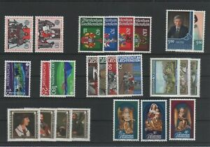 Liechtenstein-Vintage-Yearset-1982-Neuf-MNH-Complet-Plus-Sh-Boutique