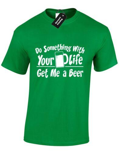 Faire quelque chose avec ta vie-bière homme t shir boisson pub blague stag party drunk