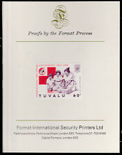 Tuvalu (1586) - 1988 RED CROSS 60c  imperf on Format International PROOF  CARD