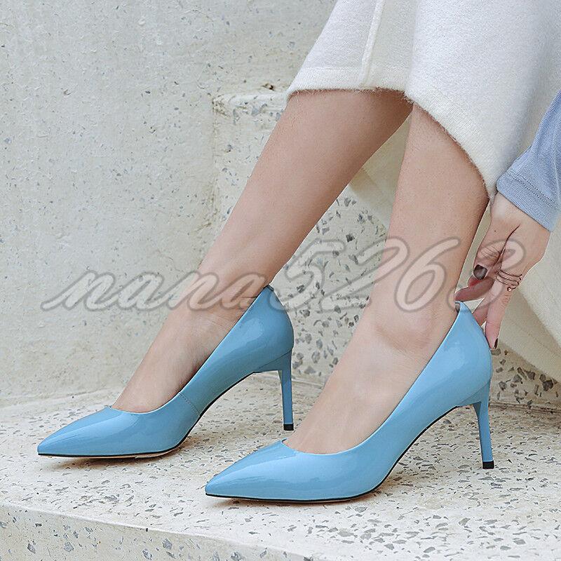Einfach Spitz Damenschuhe Pumps High Heels Stiletto Alltag Elegant NEU Gr.33-40