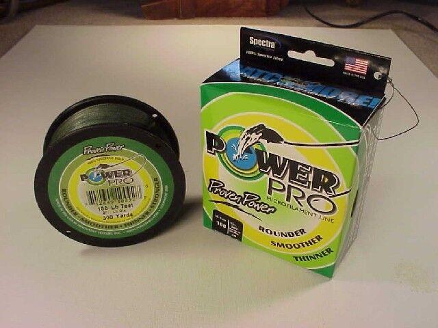 Power Pro Braided Spectra Line 100 lb x 300 yd  Moss Green  (We ship worldwide )