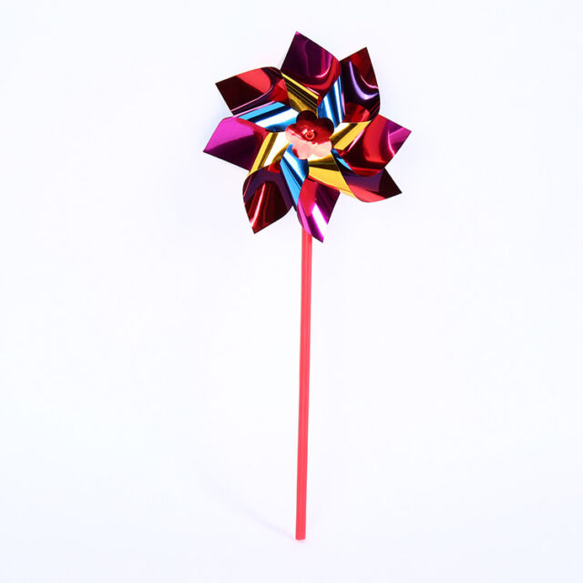 TOYMYTOY 10pcs Plastic Windmill Pinwheel Wind Spinner Kids Toy Garden Lawn Party Decor