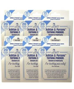 Ashton & Parsons Infants' Powders for Teething Pain Relief 20 Sachets 6 Pack