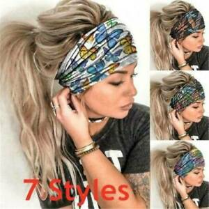 Women-Wide-Printed-Butterfly-Yoga-Elastic-Hairband-Sports-Gym-Headband-Sweatband