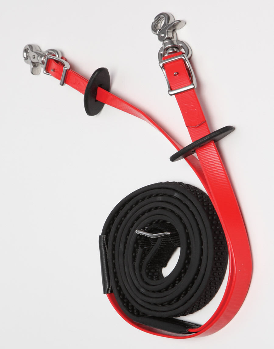 Zilco  SS Endurance R- Grip Reins with  Stainless Steel Clips  brand