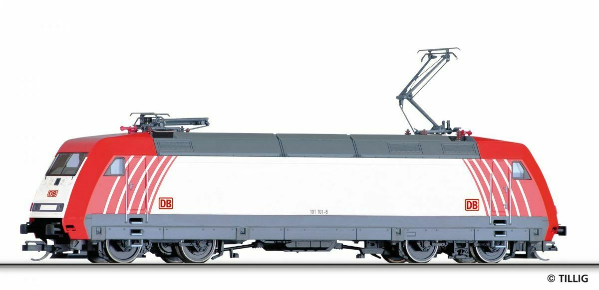 HS Tillig 02319 elektrolokomotive BR 101 101-6 delle DB AG, design studio in TT