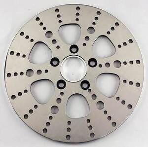 Ultima-Polished-S-S-Kool-Kat-Rear-Brake-Rotor-for-84-99-amp-00-LTR-Harley-Models
