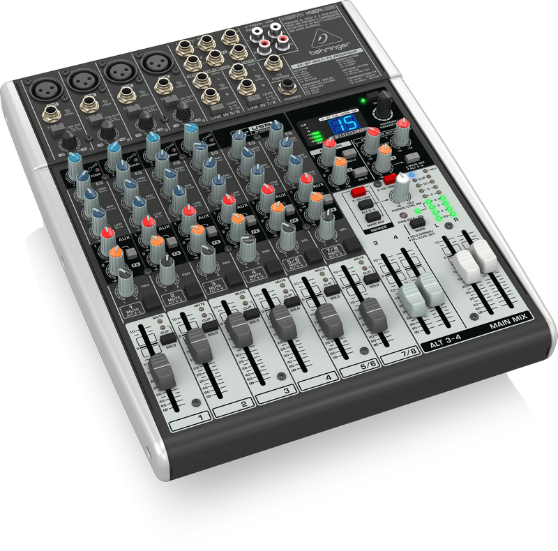 Behringer X1204USB Xenyx 12-Input 2 2-Bus Mixer with USB Audio Interface