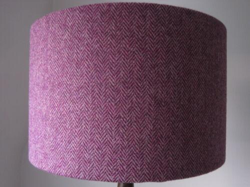 Handmade Harris Tweed Drum Lampshade in Pink Herringbone *