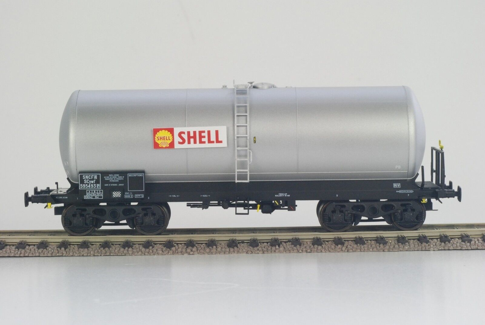 Ree-models wb317 SNCF 4-achsig Caldaia Carrello ANF shell grigio argento ep3 h0 NUOVO + OVP